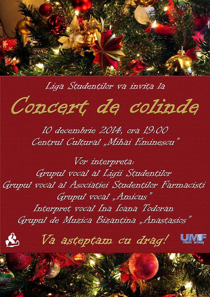 Concertul de colinde al studenților