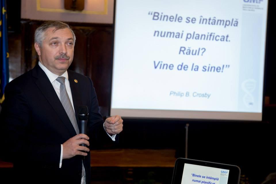 Raportul anual al rectorului privind starea Universității de Medicină și Farmacie din Tîrgu Mures.