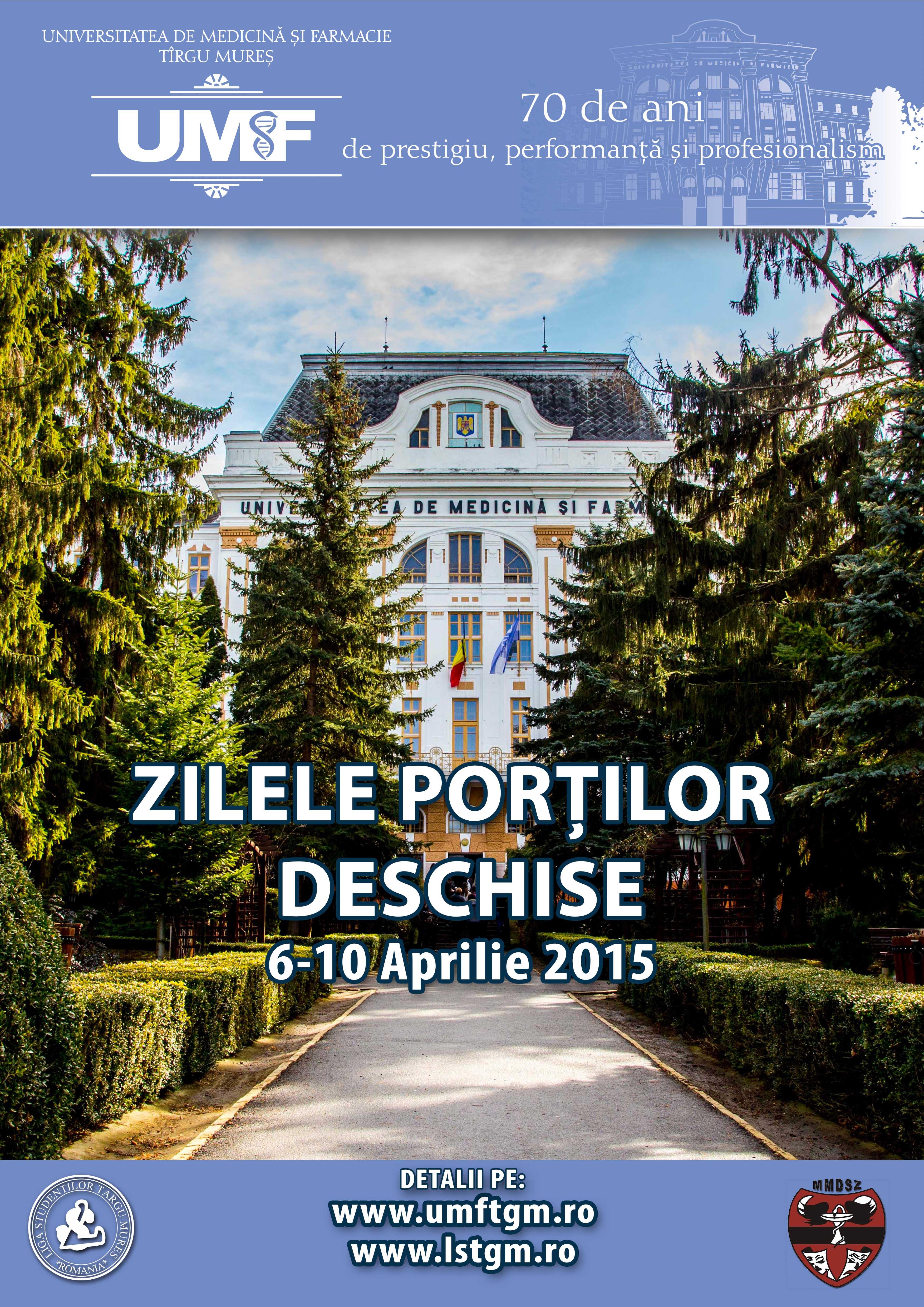 UMF Tîrgu Mureș vă așteaptă la Zilele Porților deschise