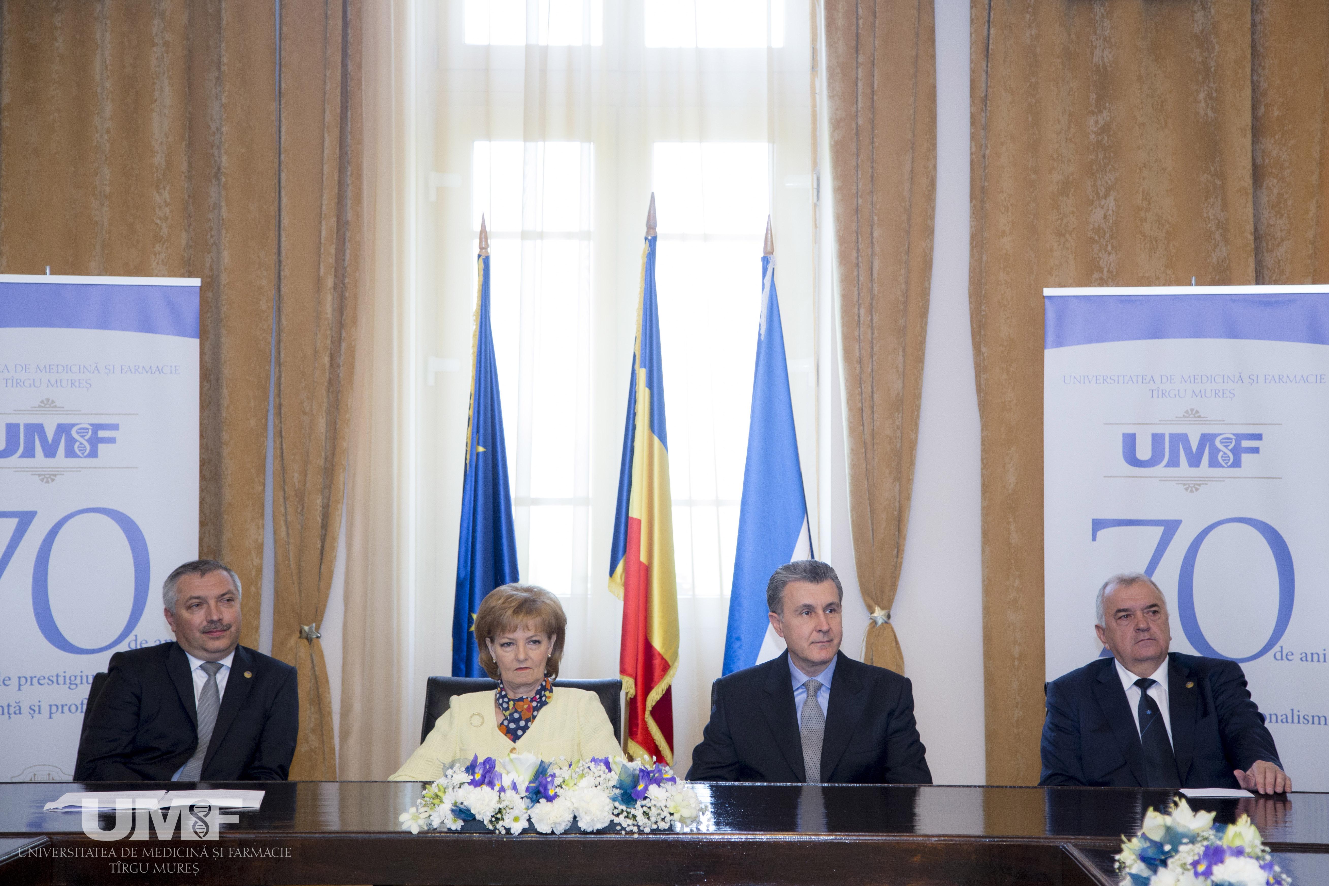 70 de ani de istorie UMF au reunit la Târgu Mureș  Casa Regală a României și Casa Regală a Iordaniei