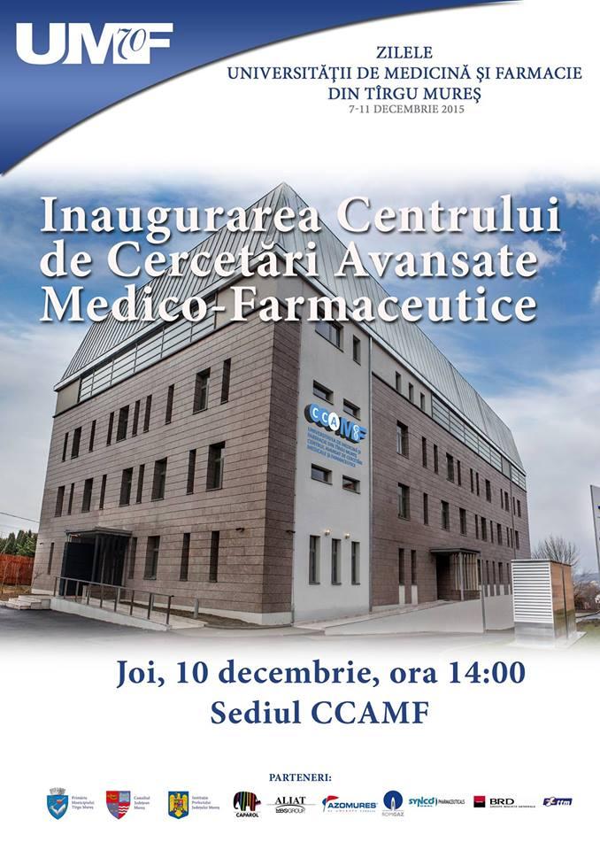 Inaugurarea Centrului de Cercetări Avansate Medico-Farmaceutice