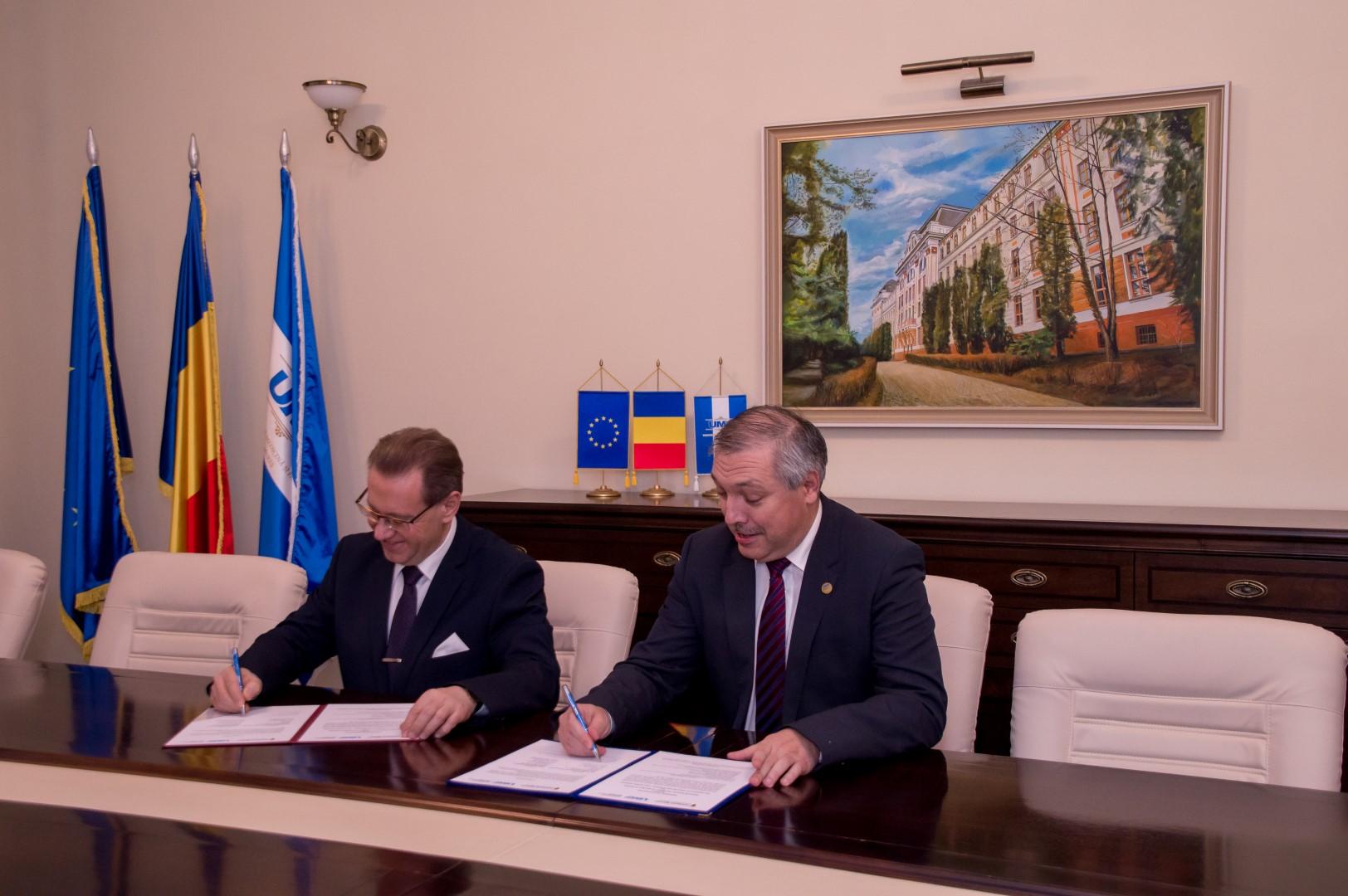 Acord bilateral semnat între UMF Tîrgu Mureș și Universitatea  Wroclaw din Polonia
