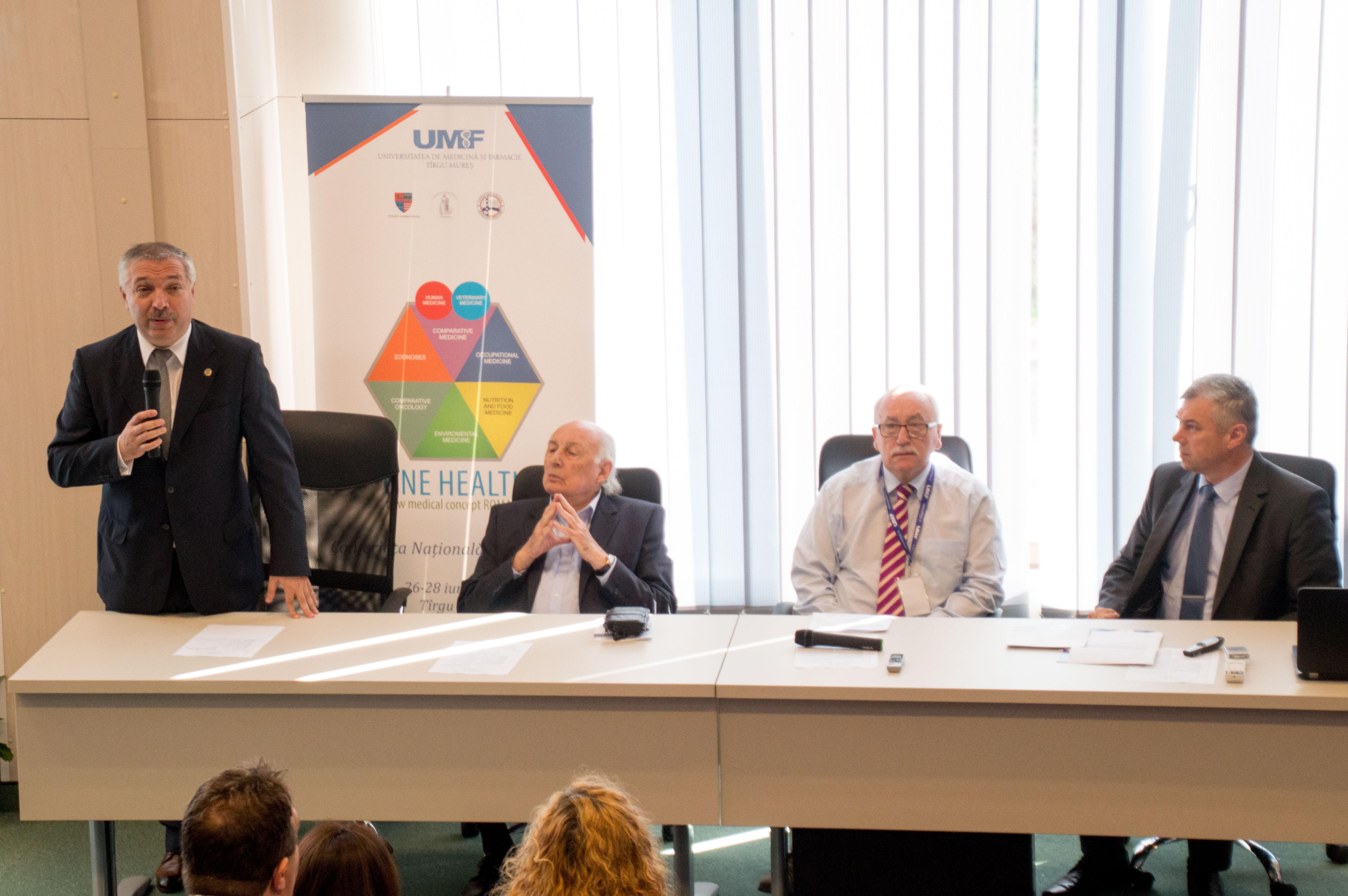 """Conferința națională cu participare internațională """"One health"""", la UMF Tîrgu Mureș"""