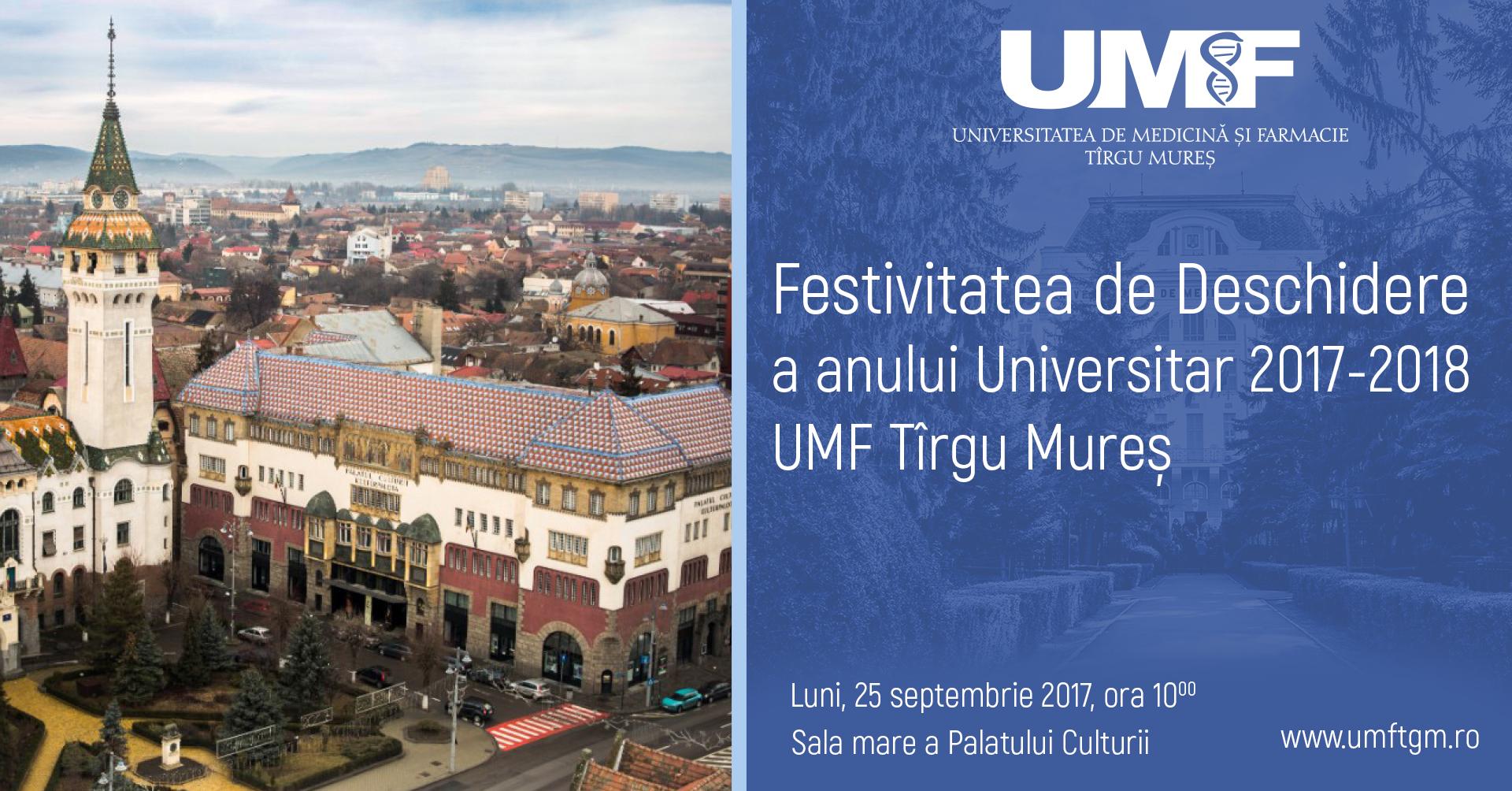Deschiderea festivă a anului universitar 2017-2018