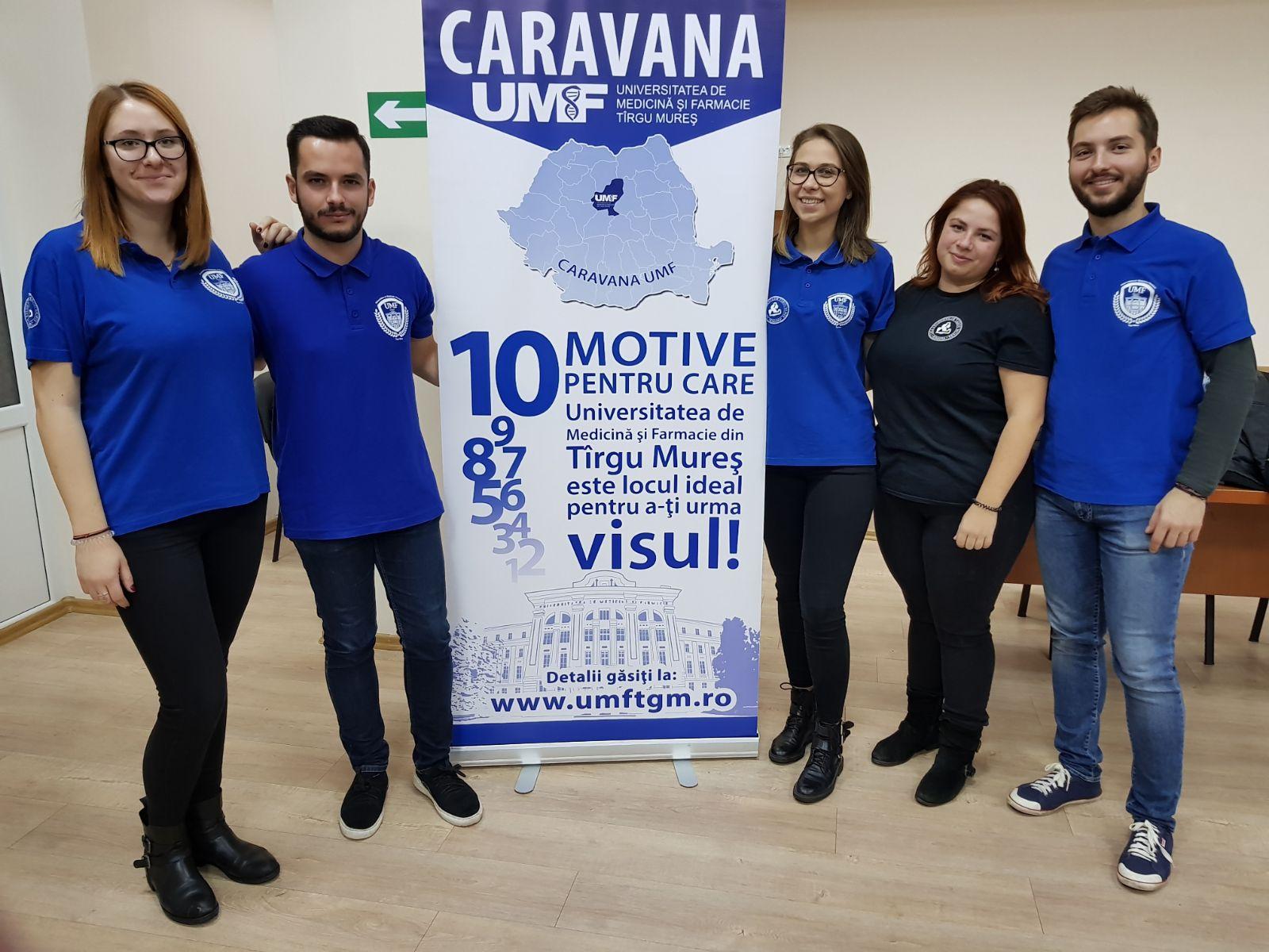 Caravana UMF, la zeci de licee din țară
