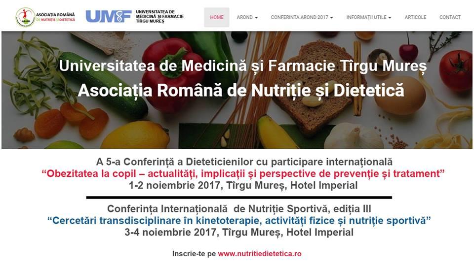 Manifestare științifică în domeniul nutriției și dieteticii