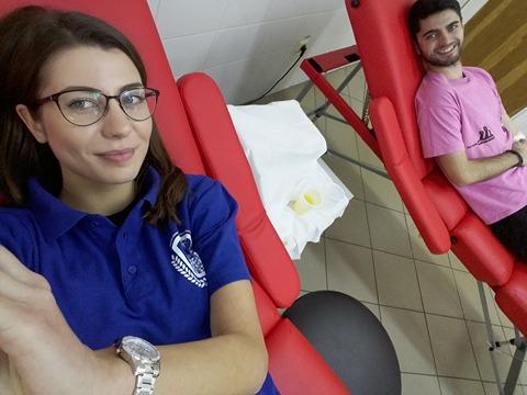 """Peste 250 de persoane au donat sânge în cadrul campaniei """"Donează sânge, fii erou!"""""""