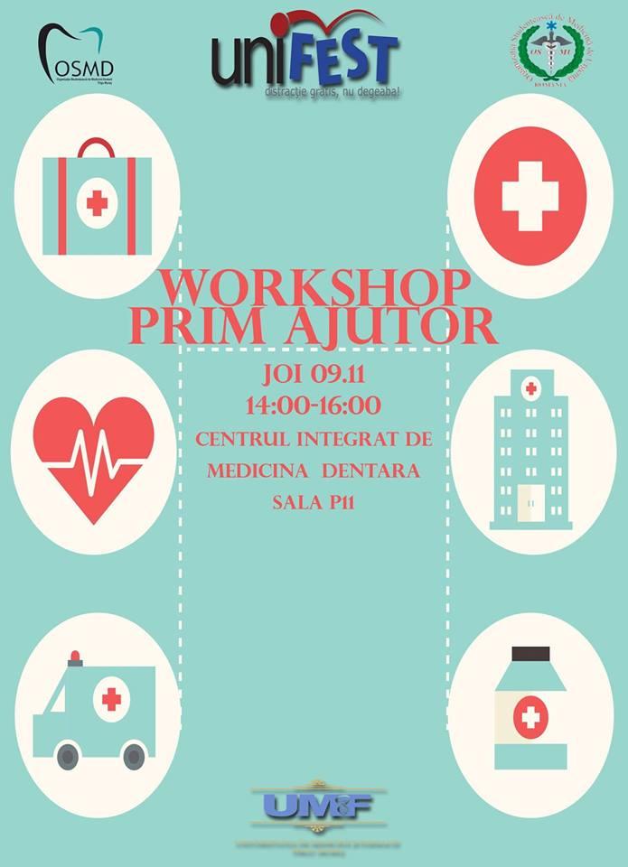 Workshop de prim ajutor pentru studenți