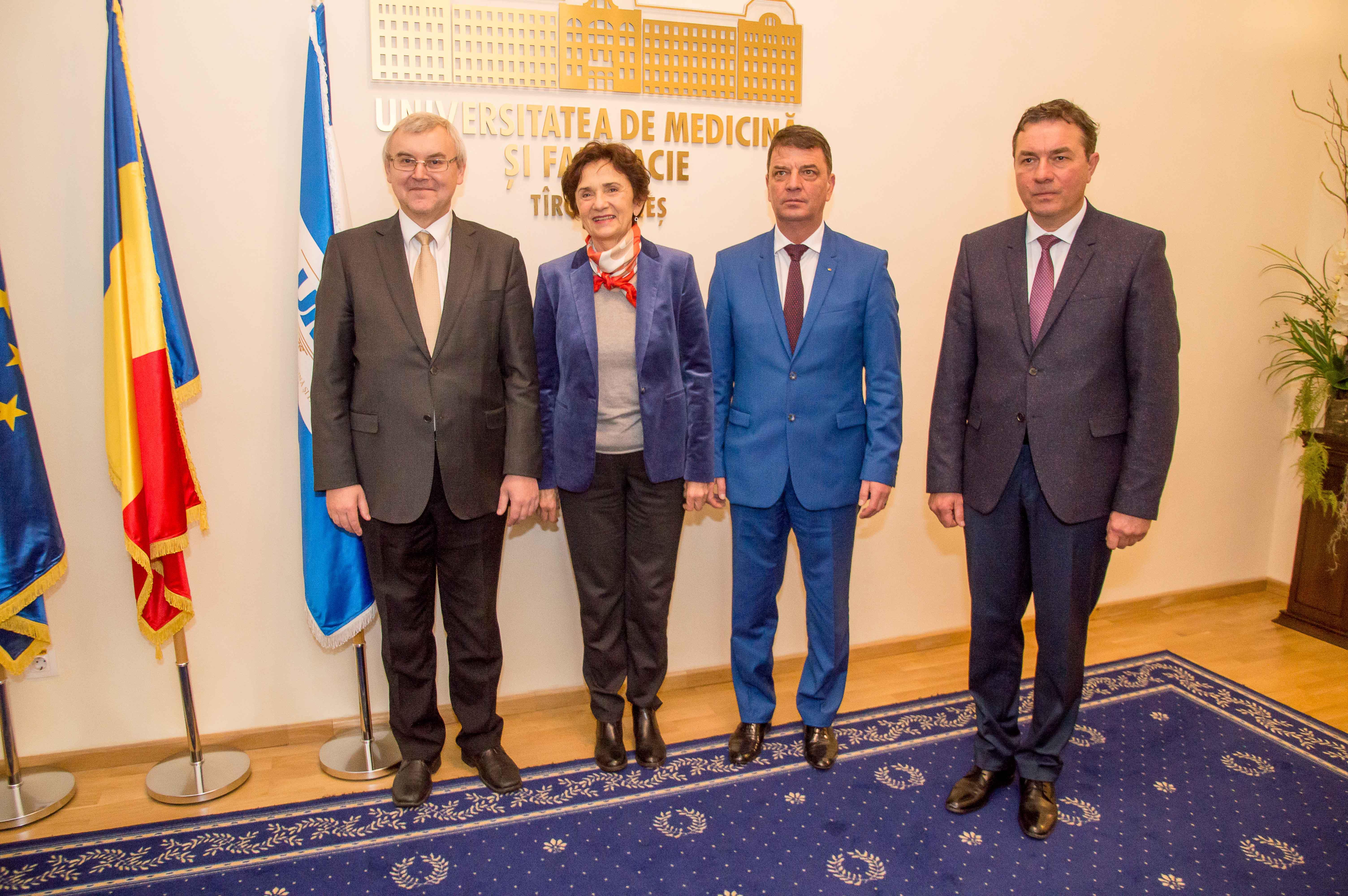 Vizita ambasadorului Belarus la UMF Tîrgu Mureș