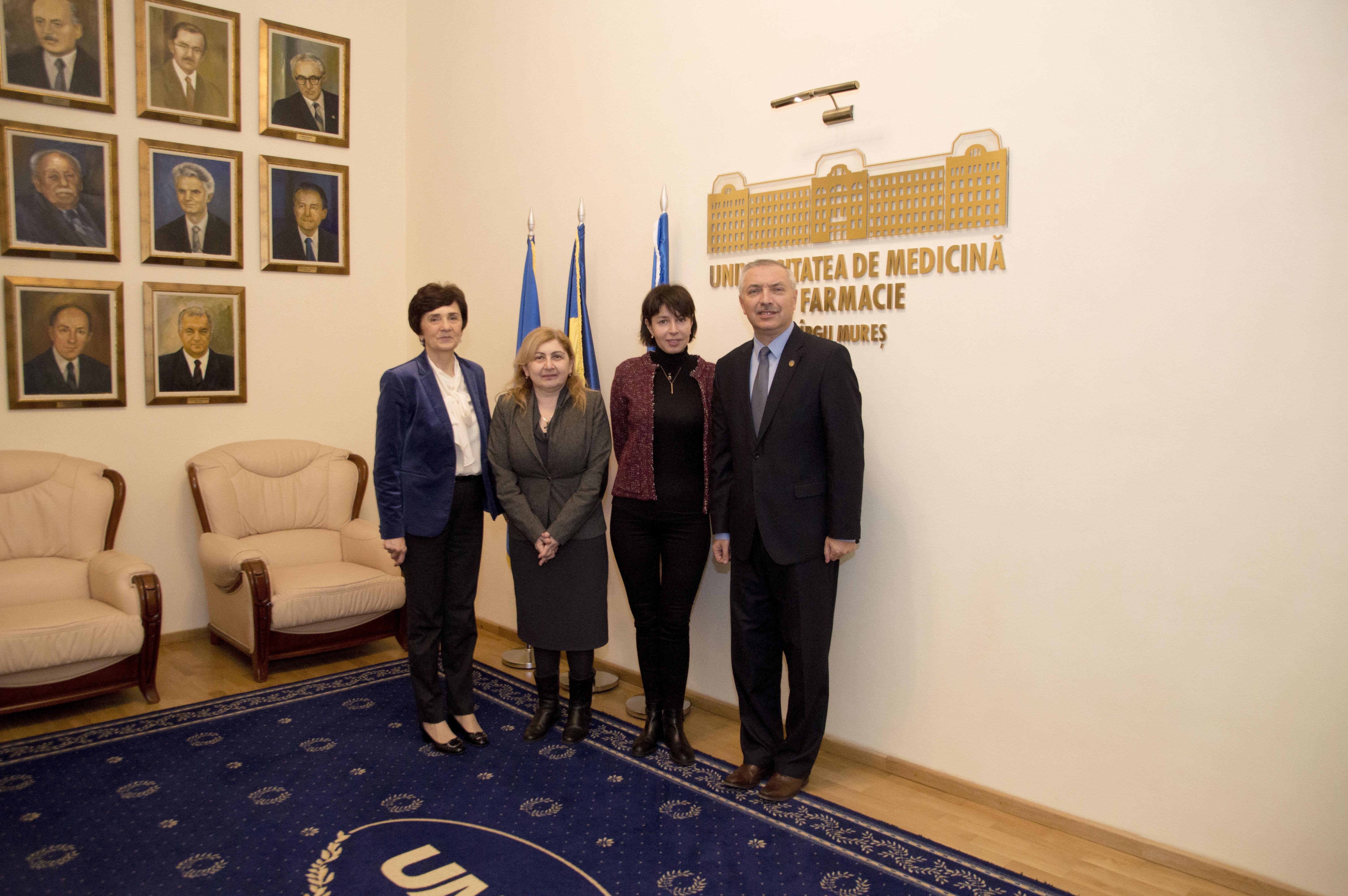 Delegație universitară din Georgia, la UMF Tîrgu Mureș