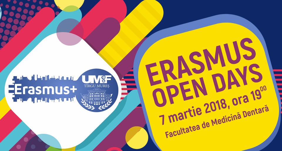 Erasmus Open Day dedicat studenților UMF Tîrgu Mureș