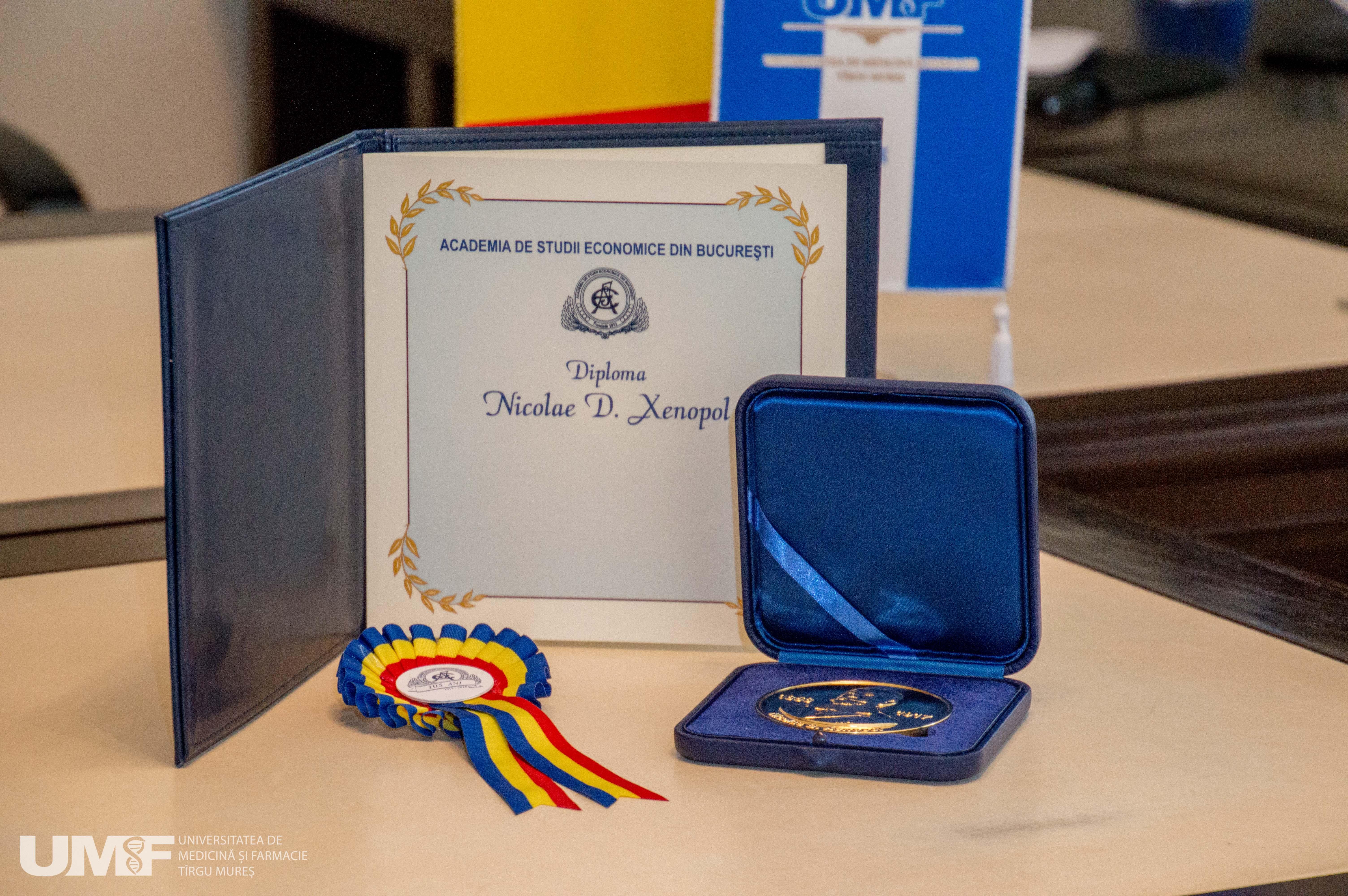 UMF Tîrgu Mureș a primit o importantă distincție din partea Academiei de Studii Economice din București