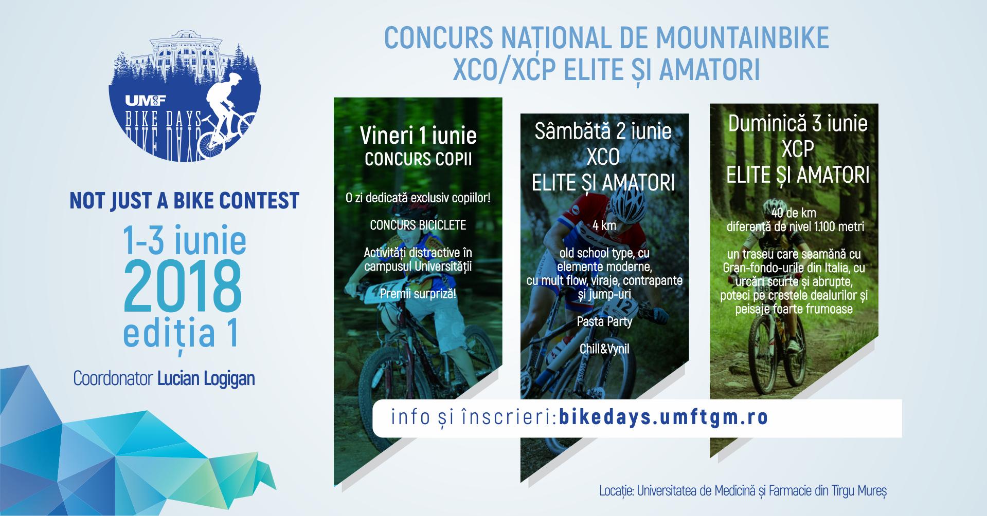 Peste 350 de participanți înscriși la prima ediție UMF Bike Days