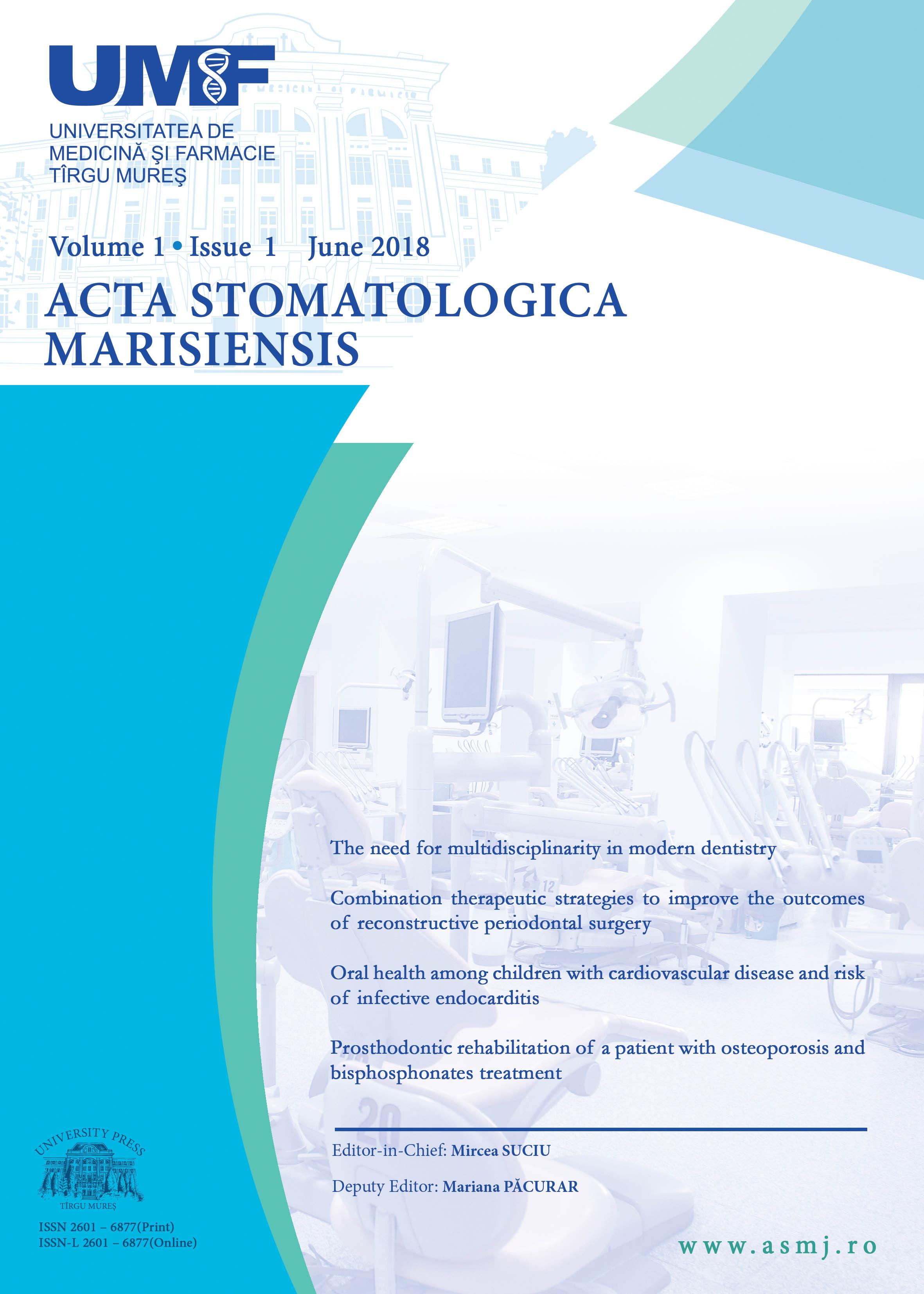 UMF Tîrgu Mureș anunță lansarea revistei Acta Stomatologica Marisiensis