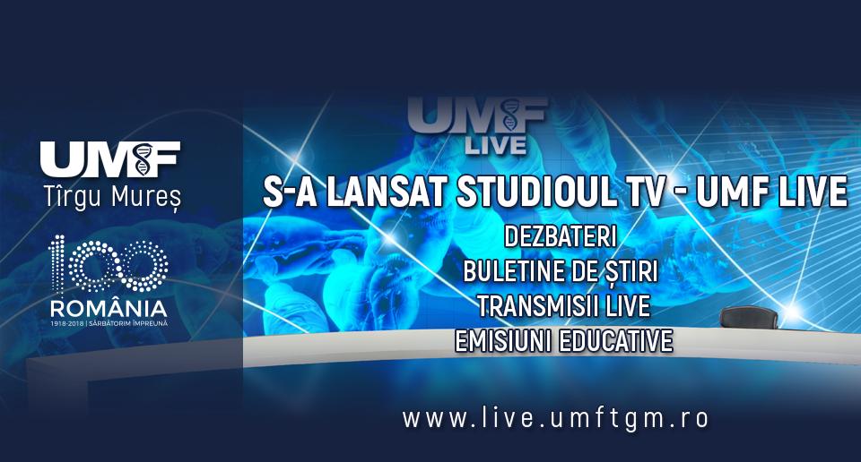 UMF Tîrgu Mureș lansează studioul multimedia UMF Live