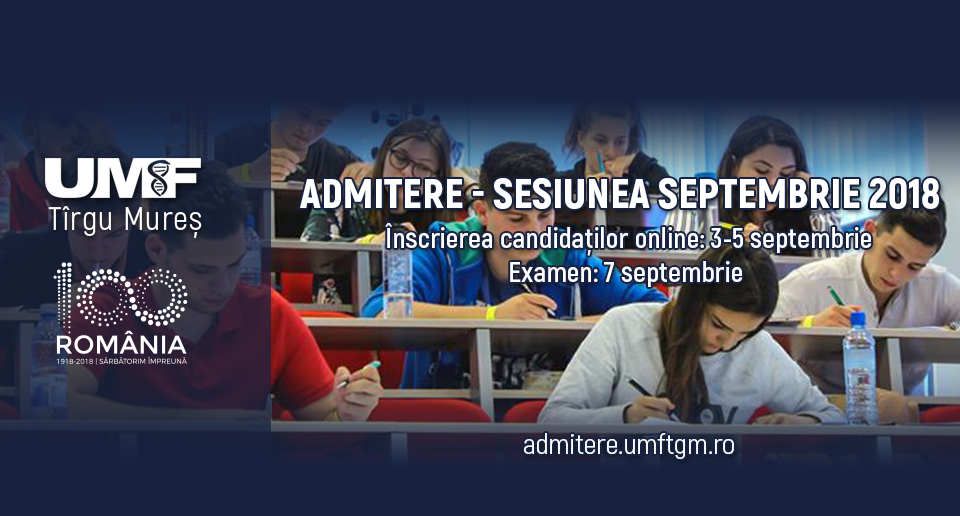 admitere septembrie 2018