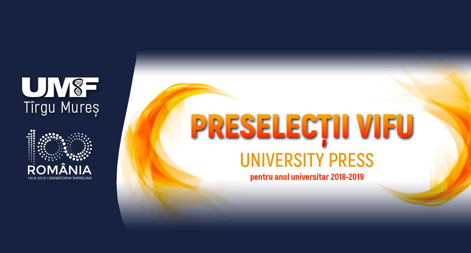 Preselecții VIFU la University Press
