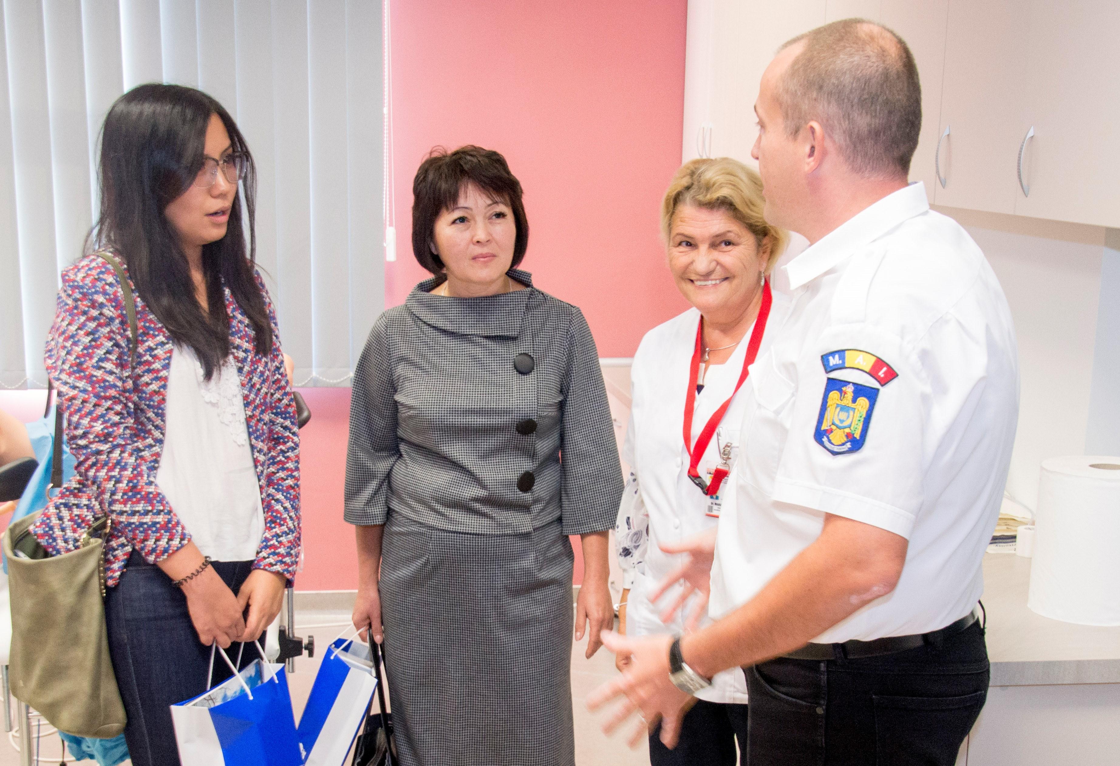 Delegație universitară din Kazakhstan, în vizită la UMF Tîrgu Mureș