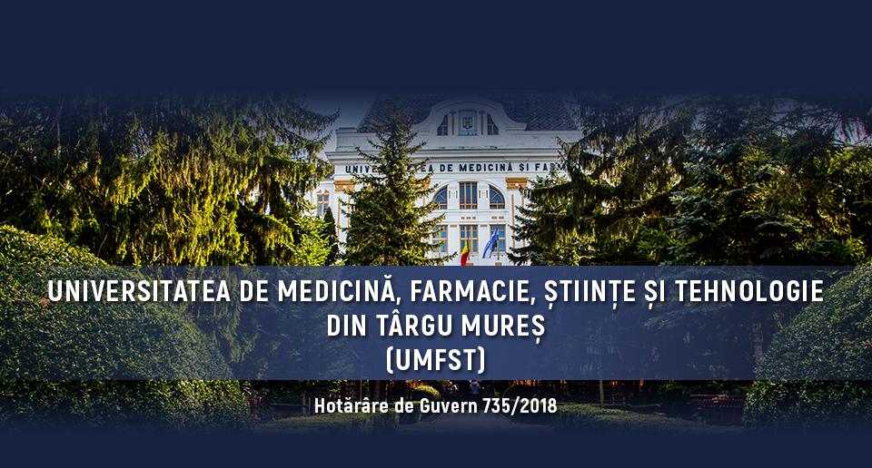 Universitatea de Medicină, Farmacie, Științe și Tehnologie din Târgu Mureș (UMFST), o universitate pentru Europa