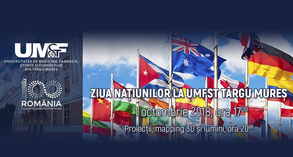 Ziua Națiunilor la UMFST Târgu Mureș