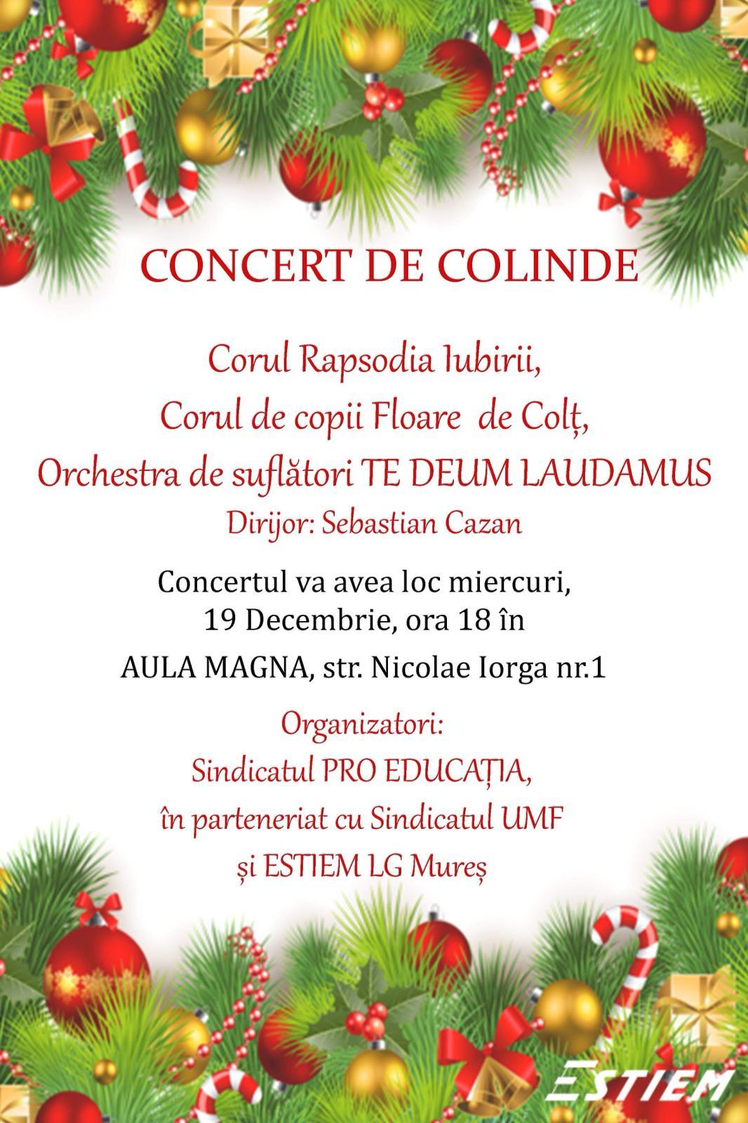 Concert de colinde în Aula Magna