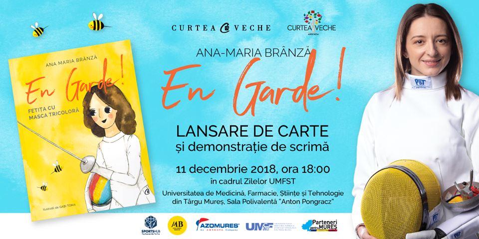 Campioana olimpică Ana-Maria Brânză, lansare de carte la UMFST Târgu Mureș