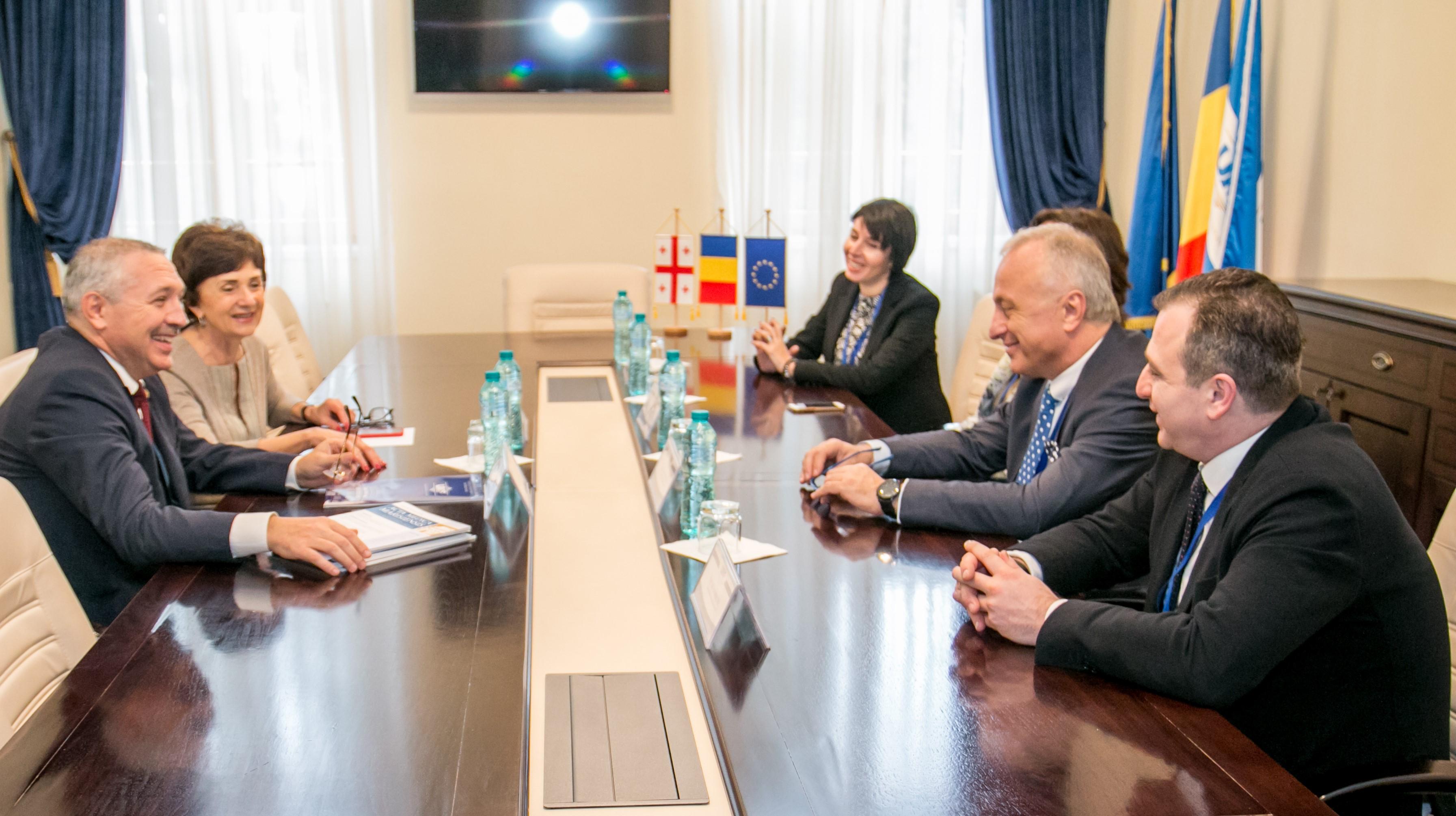 Delegație a Universității Medicale de Stat din Tbilisi, în vizită la UMFST Târgu Mureș
