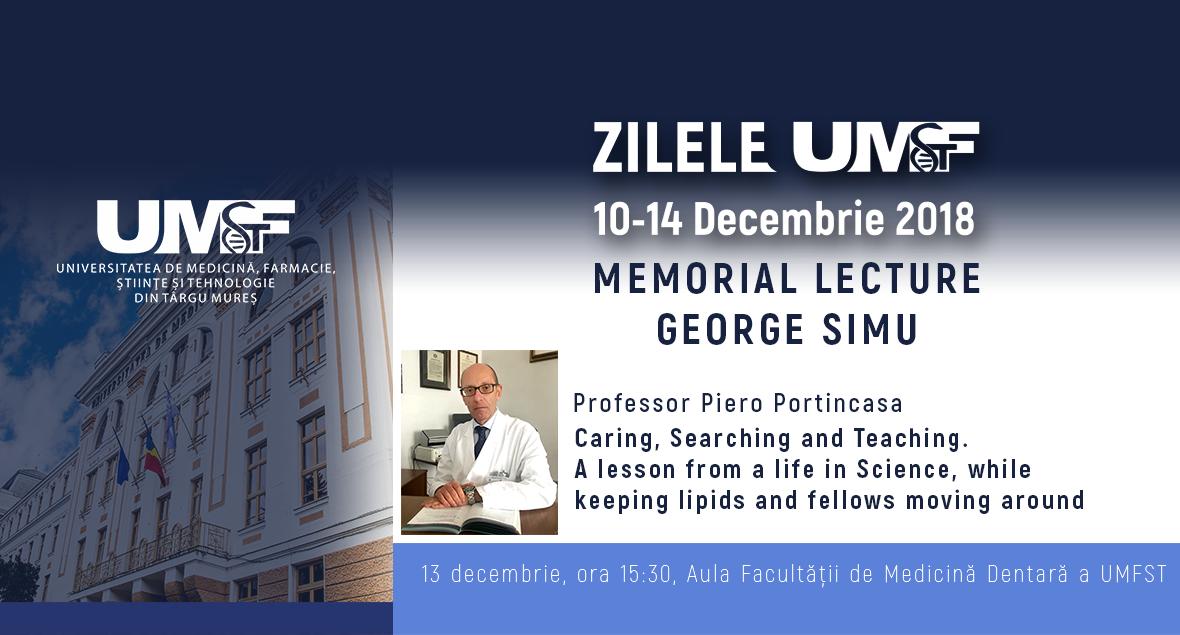 Memorial Lecture George Simu