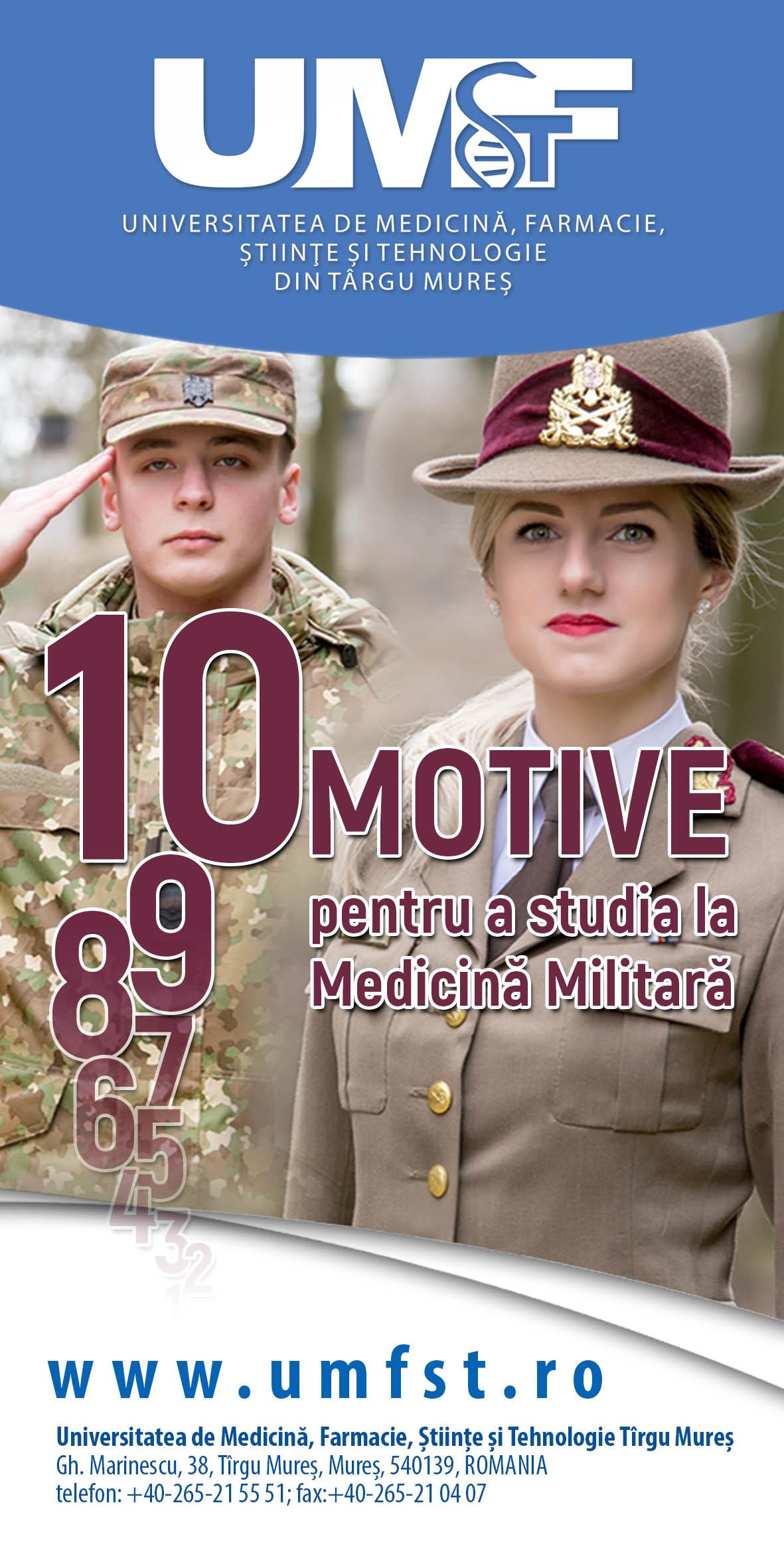 10 motive pentru a studia la Medicină Militară