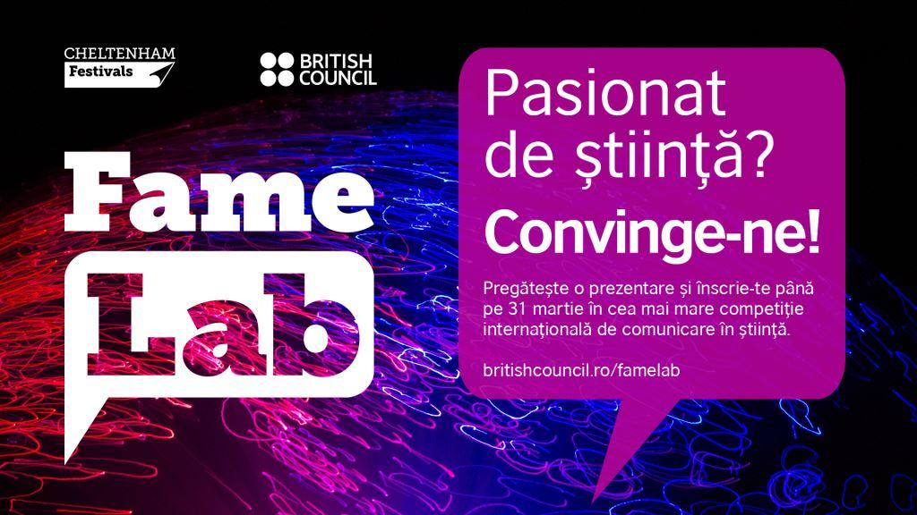 Studenții și cercetătorii, invitați la cea mai mare competiție internațională de comunicare în știință – FameLab International