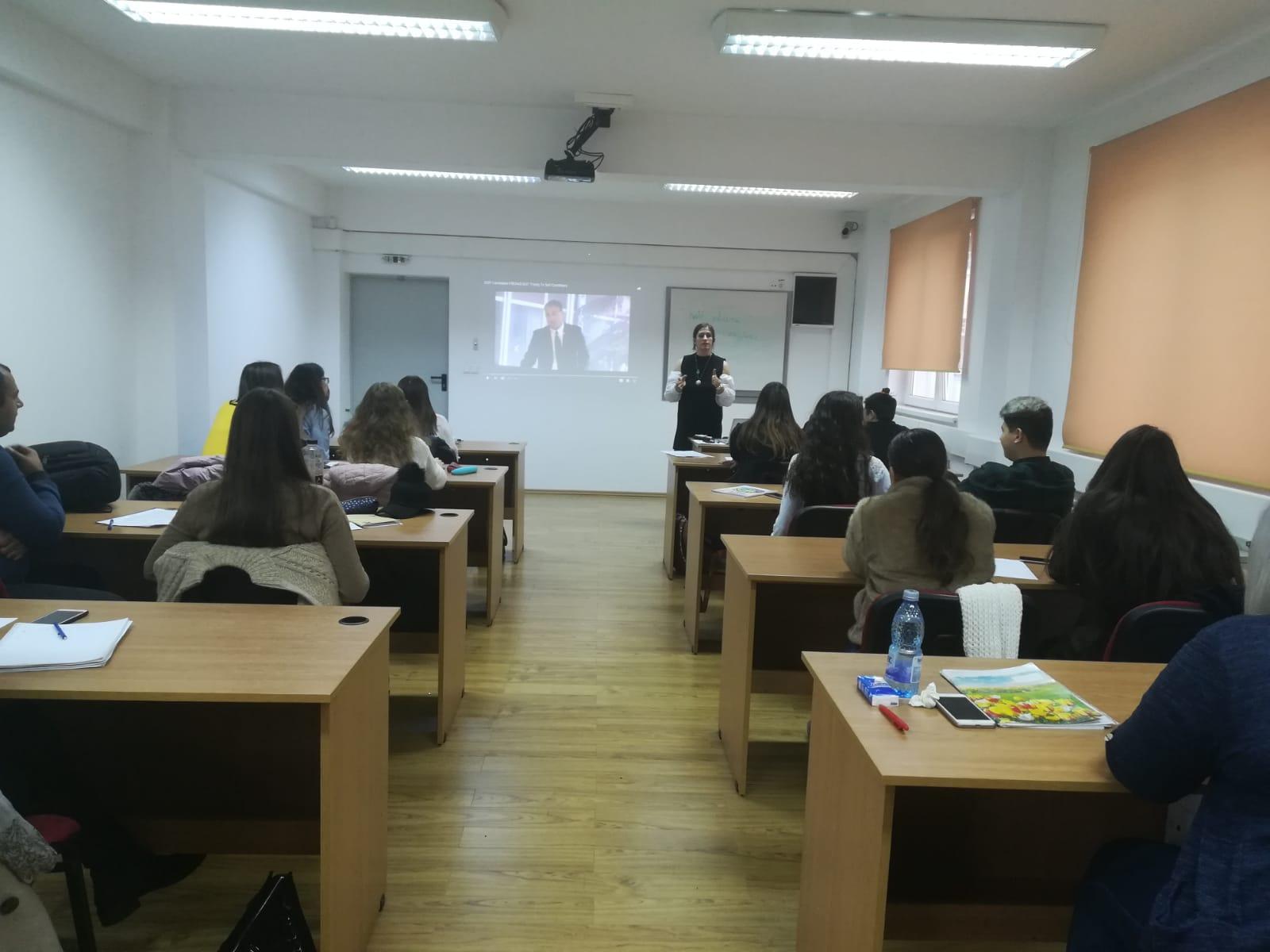 Masă rotundă dedicată cadrelor didactice care predau limba și literatura engleză în cadrul UMFST Târgu Mureș
