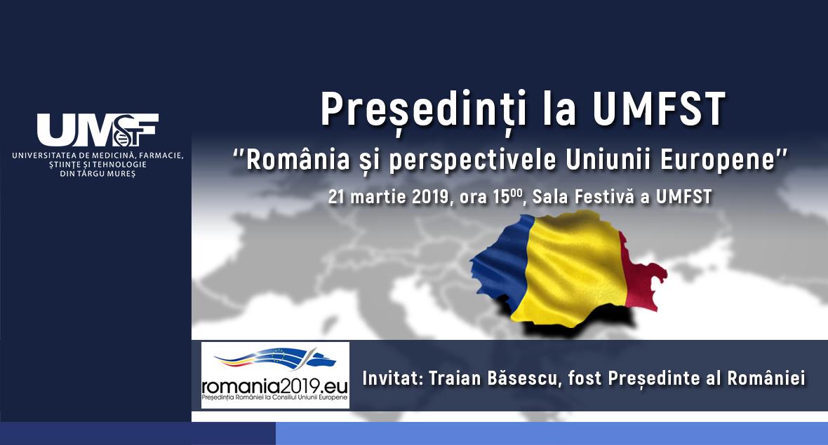 Fostul Președinte al României, Traian Băsescu, întâlnire cu studenții UMFST Târgu Mureș