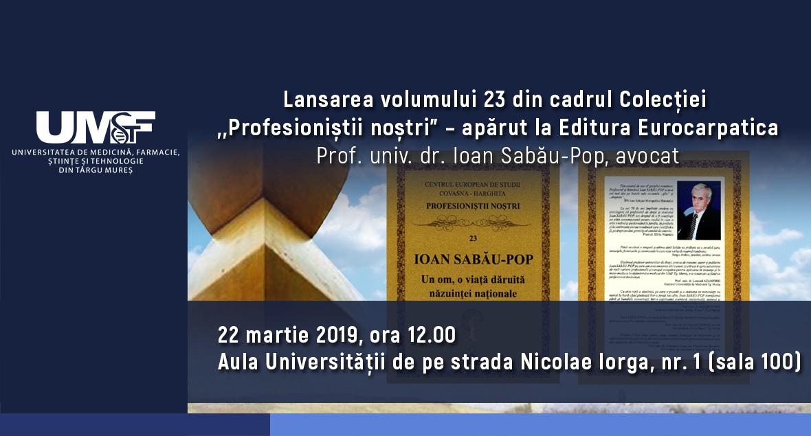 Lansare de carte la UMFST Târgu Mureș