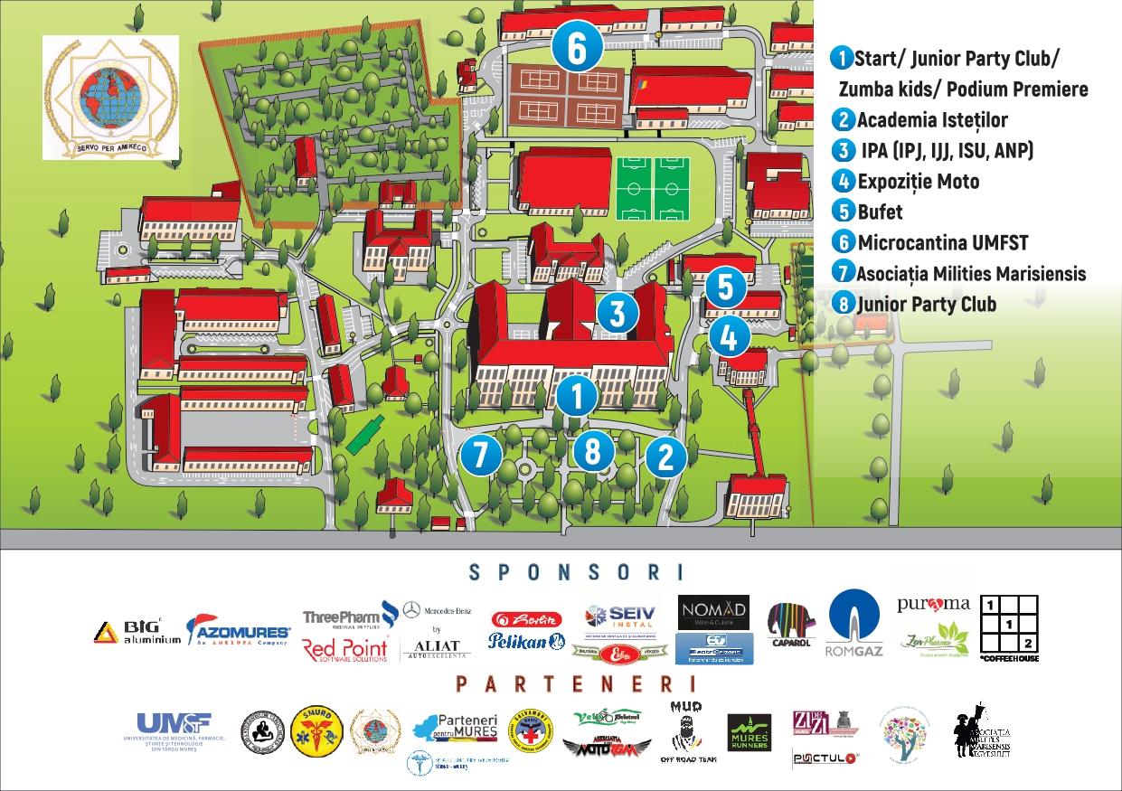 harta campus 1 iunie UMFST Bike Days