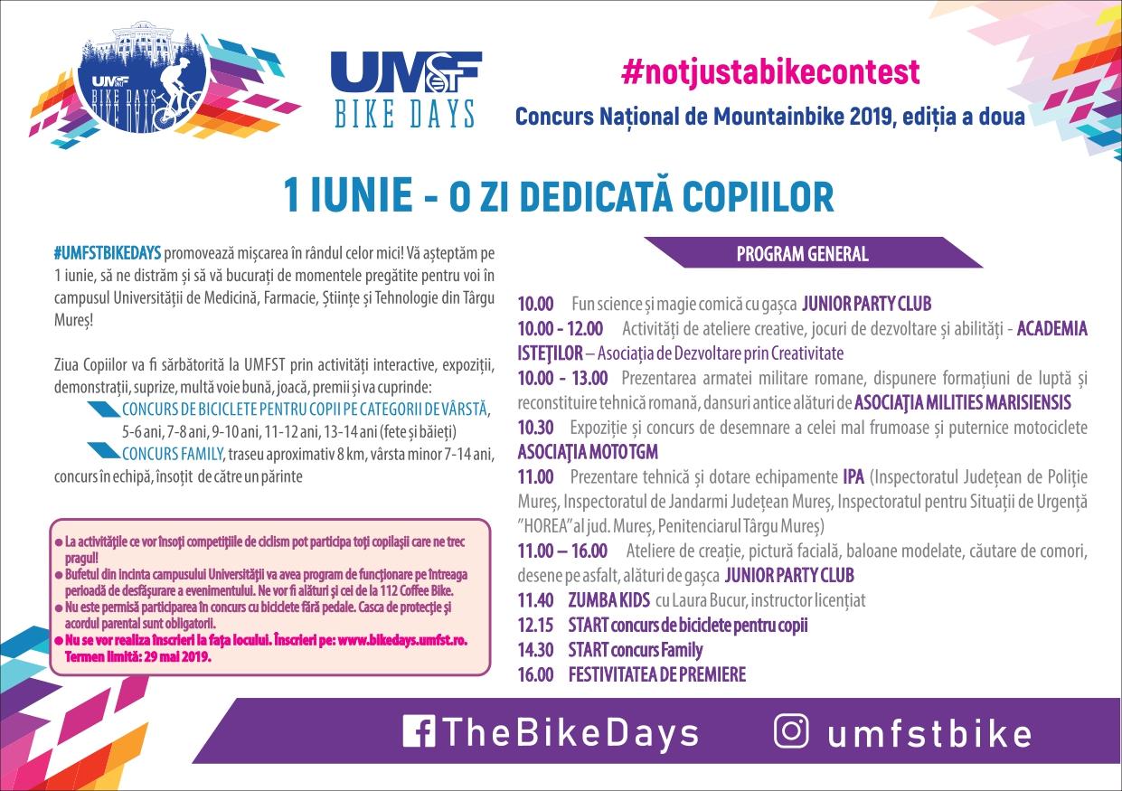 program 1 iunie UMFST Bike Days