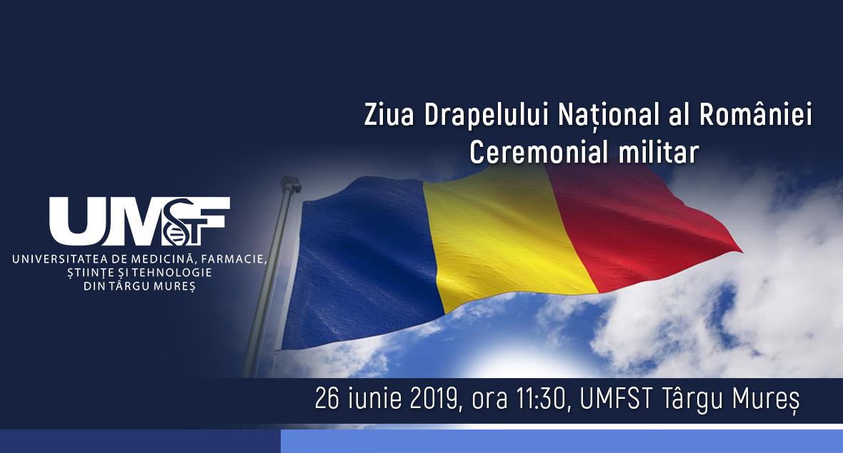 Ziua Drapelului Național al României, sărbătorită la UMFST Târgu Mureș