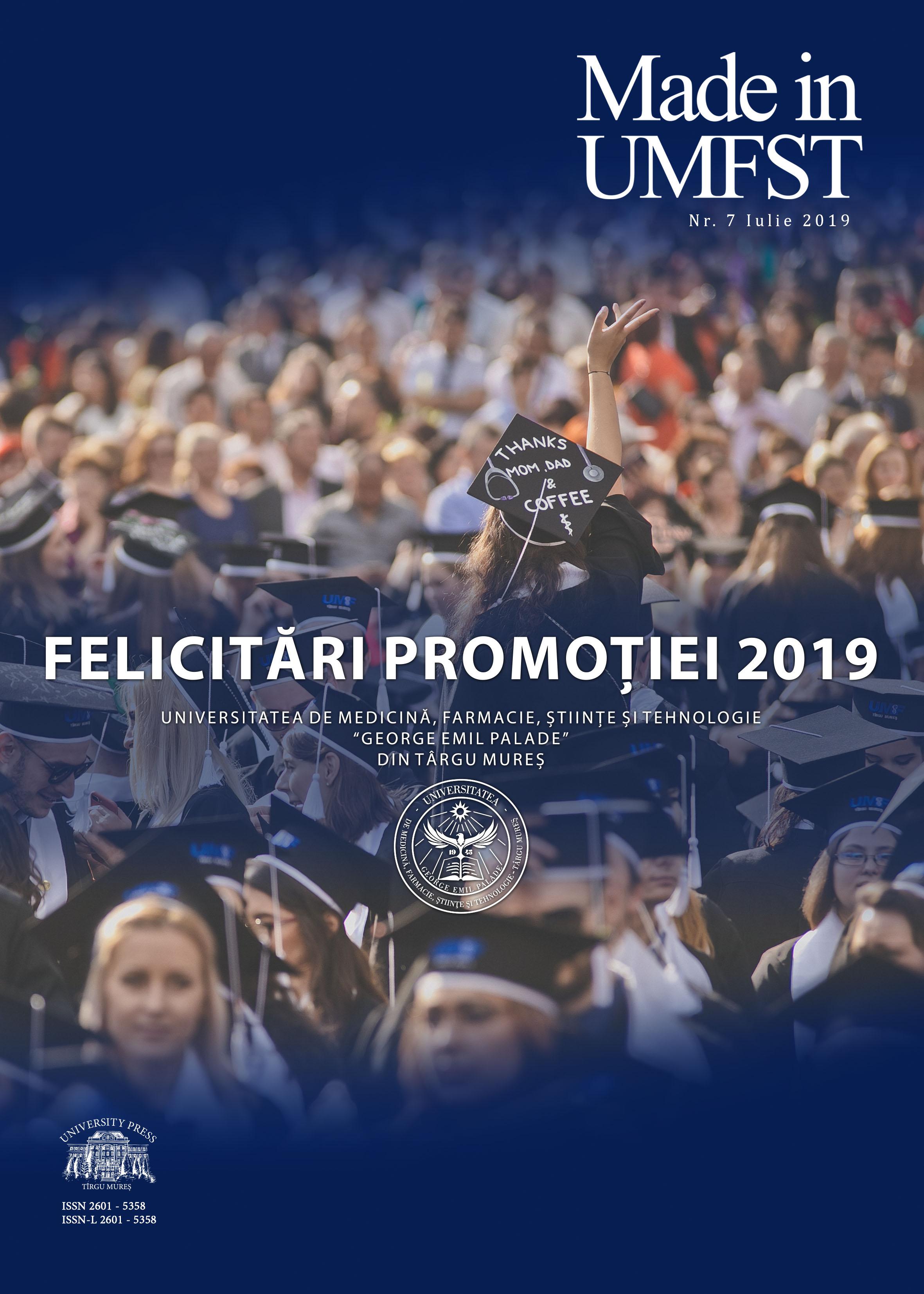 Ediție specială Made in UMFST dedicată absolvenților promoției 2019