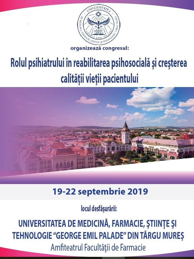 Congresul Național al Asociației Medicilor Rezidenți în Psihiatrie din România, la UMFST Târgu Mureș