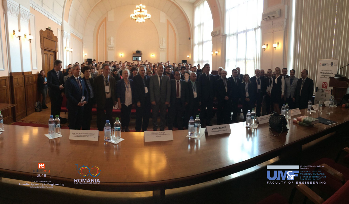 """Specialiști din 18 țări vor participa la Conferința Internațională """"Interdisciplinaritatea în Inginerie – Inter-Eng 2019"""" de la UMFST Târgu Mureș"""