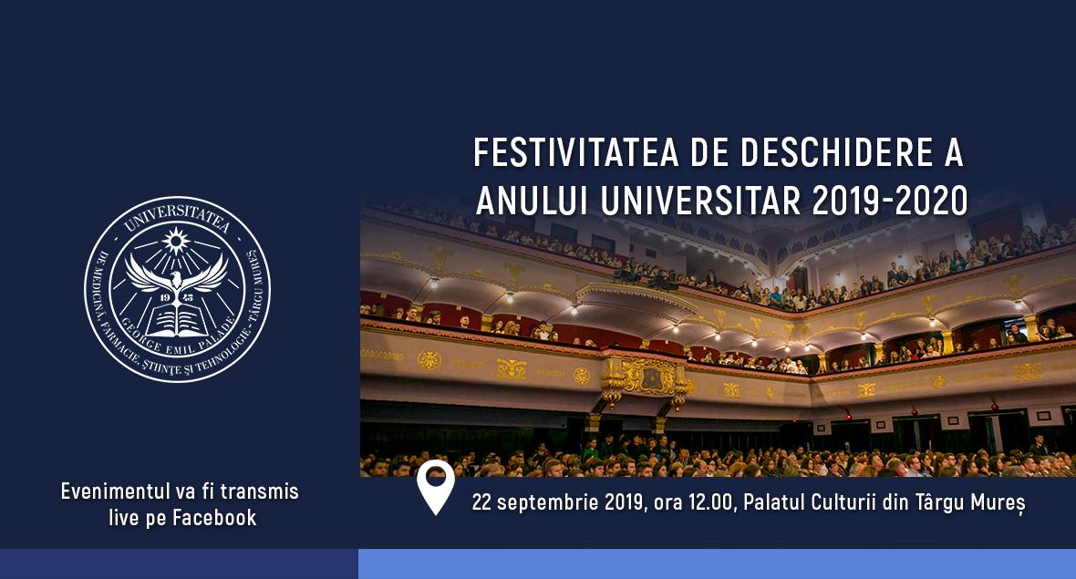 Deschiderea festivă a noului an universitar