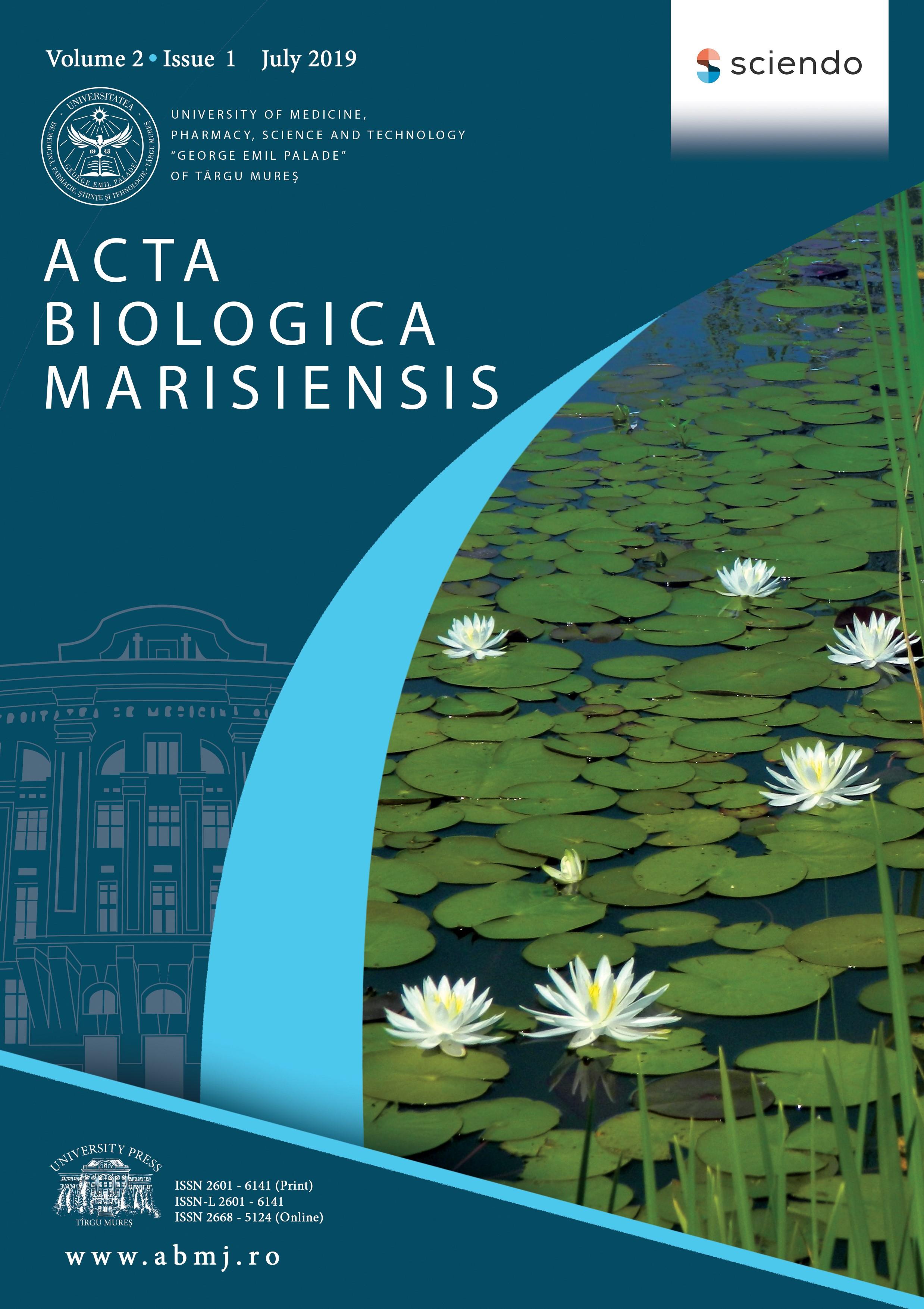 Revista Acta Biologica Marisiensis, indexată în baze de date internaționale