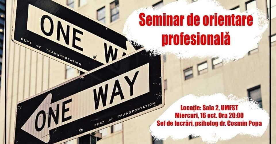 Seminar de orientare profesională pentru studenți