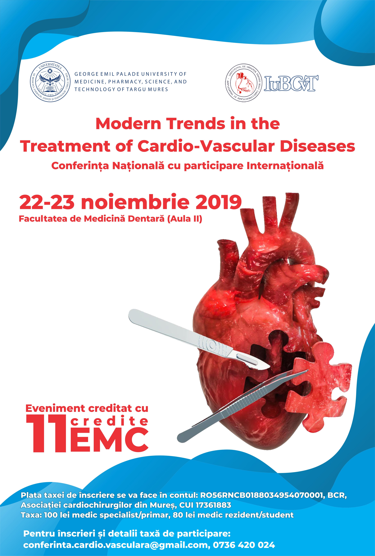 """Conferința Națională cu Participare Internațională """"Modern Trends in the Treatment of Cardio-Vascular Diseases"""""""