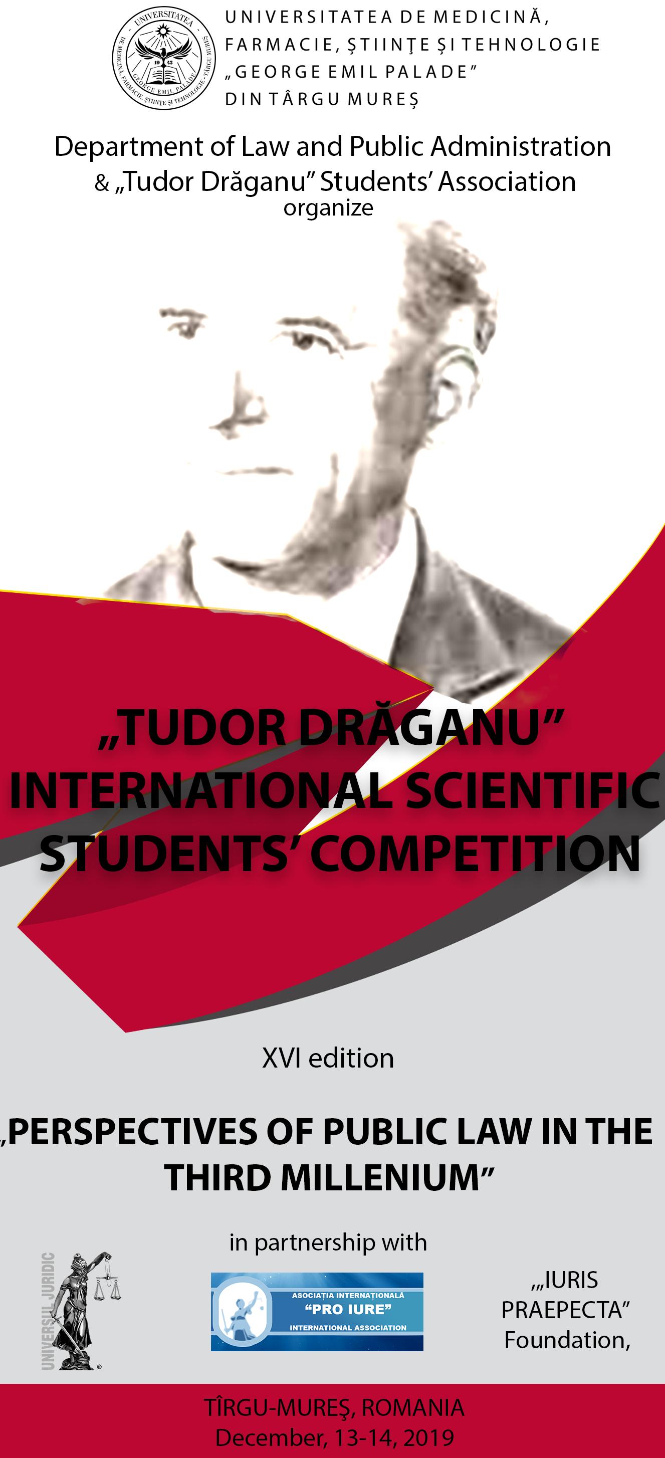 Concurs științific internațional dedicat studenților la Drept