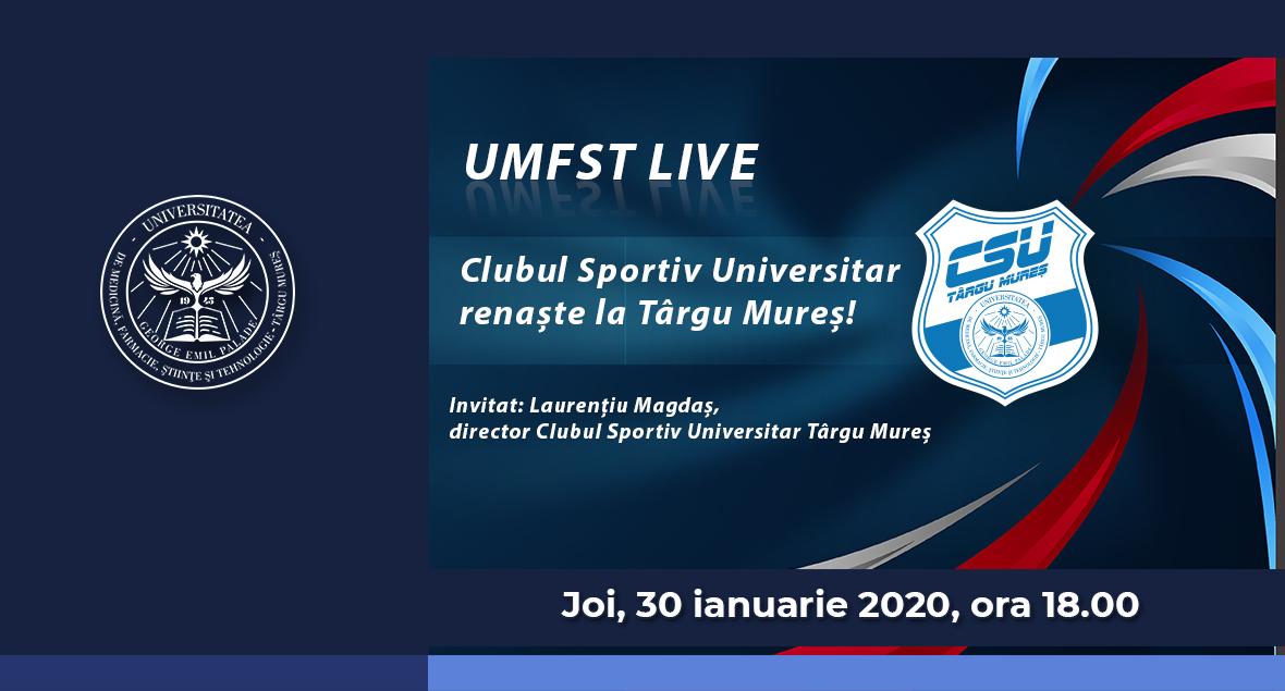 Banner Clubul Sportiv Universitar