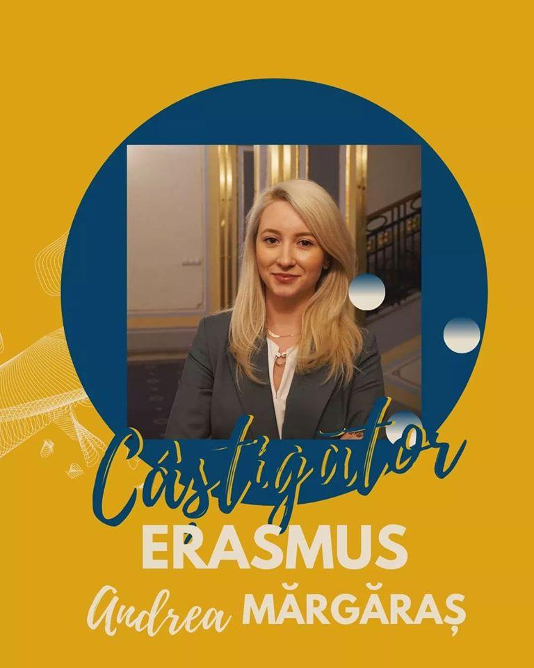 """Studentă UMFST """"George Emil Palade"""" din Târgu Mureș, desemnată """"Studentul român al anului din cadrul ERASMUS"""""""