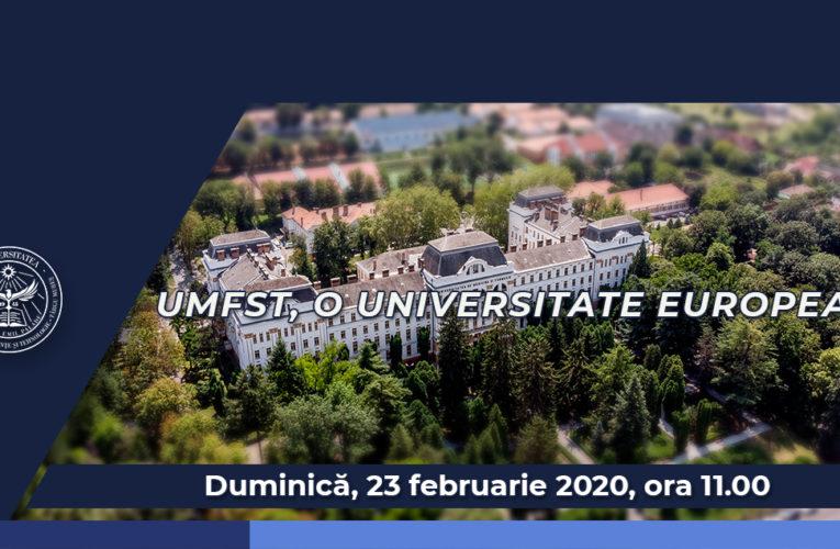 """UMFST Live: Universitatea de Medicină, Farmacie, Științe și Tehnologie """"George Emil Palade"""" din Târgu Mureș, o universitate europeană"""