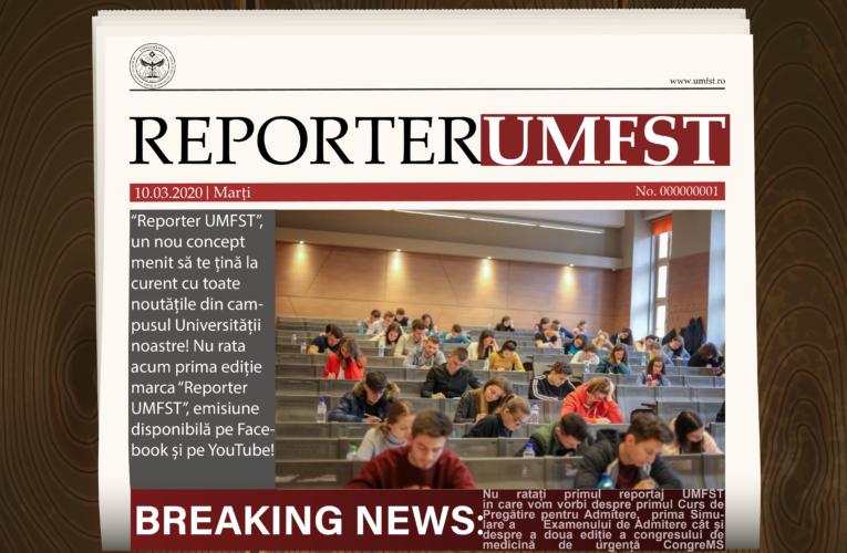 Reporter UMFST, cea mai nouă emisiune de la UMFST Live