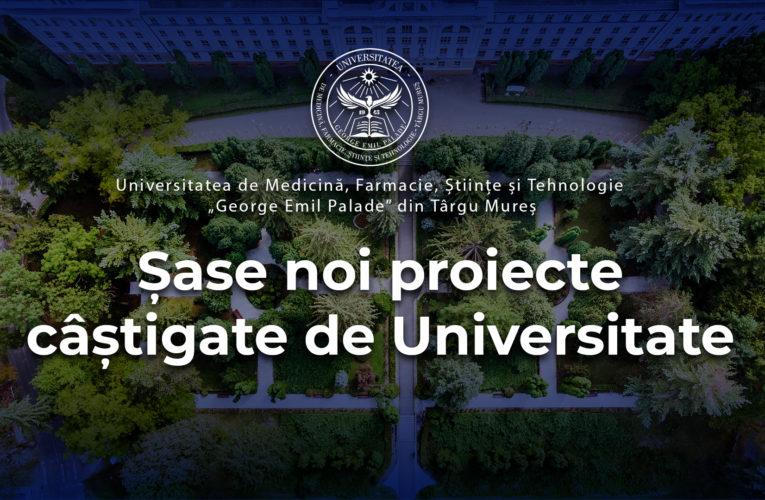 """Șase noi proiecte câștigate de UMFST """"George Emil Palade"""" din Târgu Mureș"""