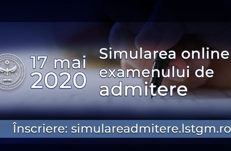 Se fac înscrieri pentru simularea online a examenului de admitere la UMFST!